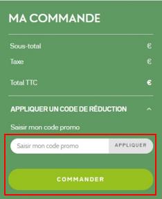 Code promo panier