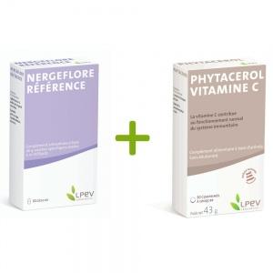 Offert Nergeflore référence (30 gel)  + phytacérol vitamine C (30 cpr)