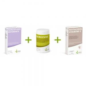 Pack : Nergeflore référence + Nergevir® + Phytacérol vitamine C